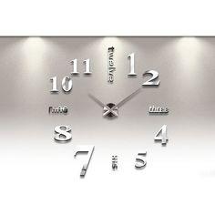2017 New Home decoration wall clock big mirror wall clock Modern design large size wall clocks diy wall sticker unique gift. Product ID: Wall Clock Kits, Wall Clock Sticker, Big Wall Clocks, Mirror Wall Clock, Diy Clock, Mirror Wall Stickers, 3d Mirror, Acrylic Mirror, Metal Mirror