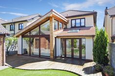 Extension, Portmarnock, project photos from chartered architectural technologist mciat, Joe Fallon Design for architectural services services Wraparound Extension, Brick Extension, House Extension Design, Extension Designs, Glass Extension, House Design, Extension Ideas, Extension Google, Bungalow Extensions