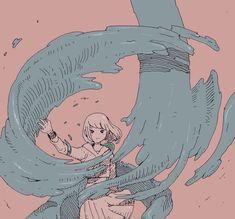 Illustration Art Digital Water 52 Trendy Ideas - Fushion News Pretty Art, Cute Art, Aesthetic Art, Aesthetic Anime, Japon Illustration, Grafik Design, Cool Drawings, Art Sketches, Art Inspo