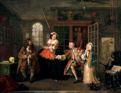 """""""The Inspection"""" from Marriage a la Mode by William Hogarth"""