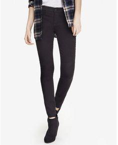 Express black mid rise extreme stretch jean legging