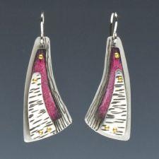 Deb Karash, pink triangle earrings 72