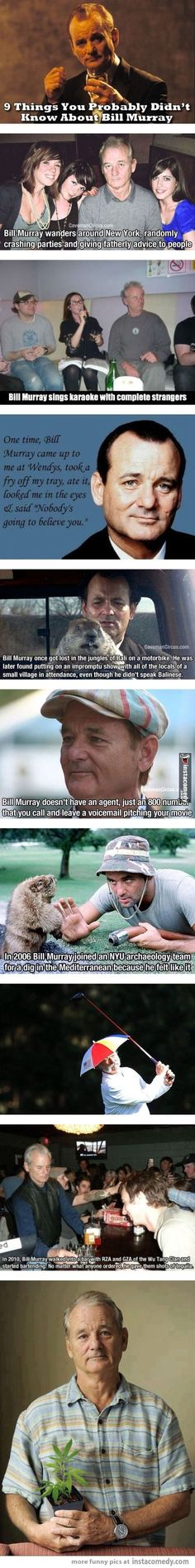 9 things you probably didn't know about Bill Murray