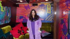 on the #BornBraveBus in a purple lab coat. #LupusStyle