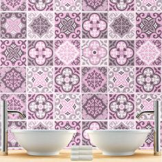 adhesivos para azulejos vinilo azulejos para cuarto de bao patrones rosa hecho a mano