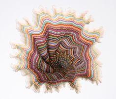 Jen Stark Pedestal (detail), hand-cut acid-free paper, wood, foamcore, 40 x 18 x 18 in. Jen Stark, Paper Artwork, Sculpture Art, Paper Sculptures, Paper Cutting, Cut Paper, Jena, Oeuvre D'art, Les Oeuvres