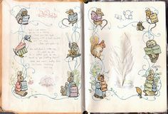 First page in Beatrix Potters books.