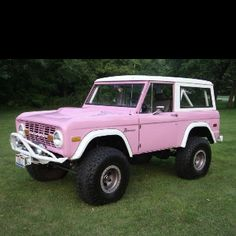 yes please. Practical too. I could do this. dad had a vintage bronco, brother crashed his, my uncle owns a vintage bronco. I am familiar with them. I think it has everything I want. Maybe my other uncle can paint it this color. :)