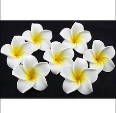 100 x Plumeria Hawaiian Foam Frangipani Flower For Wedding Party Decoration NEW