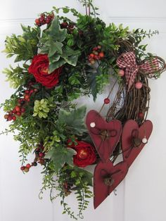 COUNTRY HEARTS Wreath by Fun Florals on Etsy