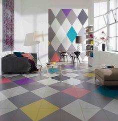 Domotex, Hanover, 2013 - concept room, color block trend