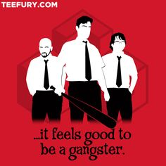 Had to have this one!  Office Gangsters by shirtoid - Shirt sold on July 22nd at http://teefury.com
