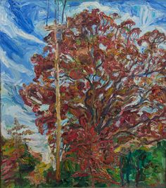 "PHILIP LAWRENCE SHERROD NA/- (STREET*PAINTER)-*PAINTING*-..(*NJ.*/-..*PLEIN*AIR*!)?(*FOUNDER*/-..-*STREET*PAINTERS)!? TITLE: -""RED*MAPLE*TREE/-..(WINDY*DAY/-!)..-HOPE*WELL, NJ(!)""?  MED:OIL/CANVAS  SIZE:48"" X 38""  DATE:1971    artist's(C)copyright"