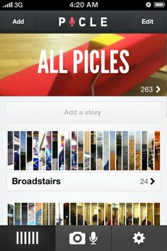 PICLE. Preserve the moments that matter. Telling stories with photos and sound clips.