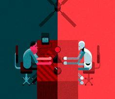 Illustration, animation, desktop, office,   Robin Davey