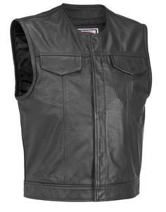 Leather Vest, Motorcycle Vests for Men and Women - C0ZY