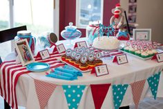 {PARTY} Blue & Red Sock Monkey 1st Birthday | Life & Baby | Baby Showers : Parties : Nurseries : Baby Products : Baby Deals