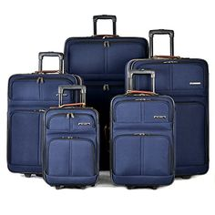 Olympia Mammoth Ii 5 Piece Expandable Spinner Set Navy One Size >>> Click image to review more details.
