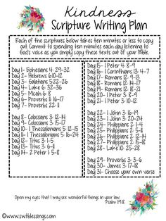 October Scripture Writing Plans ~ http://www.southernplate.com