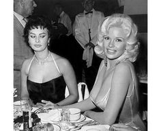 Sophia Loren and Jayne Mansfield - ISSO SIM É UMA MANJADA !