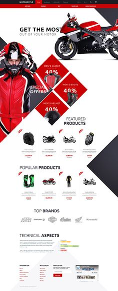 Motorcycles Club & Online Store #OpenCart #webtemplate #themes #business #responsive #template