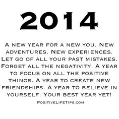 2014! Your best year yet! Yes please