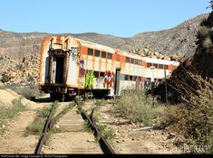 High quality photograph of Carrizo Gorge Railway - - - - # METX 7773 at Jacumba - San Diego County, California, USA. Abandoned Vehicles, Abandoned Cars, Abandoned Buildings, San Diego, California, Train Tracks, Train Station, Ghosts, Continents