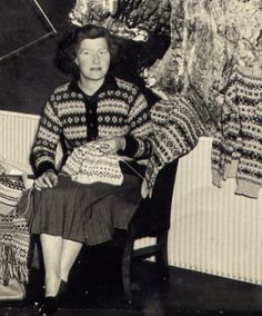 Fair Isle: Traditional Hand Knit Fair Isle Fishermans Keps (6 Hats for Auction) Museum Fund Raiser