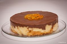 Cake brioche and chocolate with tangerine cream Greek Sweets, Greek Desserts, Greek Recipes, Cake Recipes, Snack Recipes, Dessert Recipes, Cooking Recipes, Greek Cooking, Cooking Time