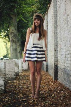 Topshop Top, Asos Skirt, Zara Sandals, Kipling Camera Bag, Daniel Wellington Watch