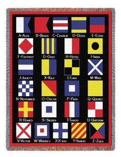 NAUTICAL FLAGS THROW eBay