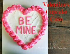 Valentine Cupcake Cake by A Turtle's Life for Me