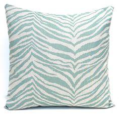 WORLD SERIES SALE Decorative Throw Pillow Covers for 20 x 20 Decorative Pillows Cushion Covers Seafoam Green Aqua on Linen Premier Prints A. $34.20, via Etsy.