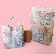 Reusable Gift Bag / Gift Bag / Floral Gift Bag / Present Bag / Fabric Present Bag / Cotton Gift Bag / Floral Reusable Gift Bag / Recycled Cotton Gifts, Cotton Bag, Candy Pillows, Denim Tote Bags, Reuse Recycle, Shopper Bag, Reusable Bags, Sheffield, Gift Bags
