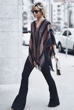 Sway  PONCHO FREE PEOPLE | DENIM STELLA MCCARTNEY  | BAG CHLOE | HAT MADEWELL Happily Grey