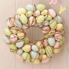 Easter decorations, easter door wreath