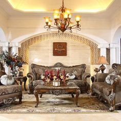 Oak Antique Living Room Furniture Set