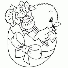Free Easter Coloring Pictures   Chick Hatching from Easter Egg – Free Easter Coloring Page for Kids