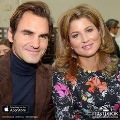 Mirka Federer and Roger Federer at the Louis Vuitton - Paris Fashion Week 2017