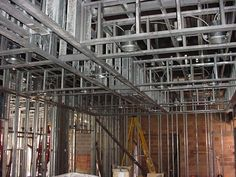 metal stud construction | Light Gauge Metal Stud Framing | Credit: Buildipedia