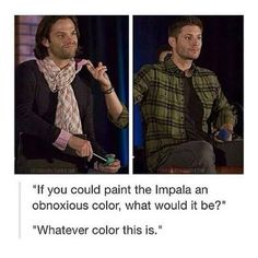 Jared is like: DID YOU JUST INSULT THIS SCARF I AM THE TOP OF FASHION JUST LOOK AT MY HAIR