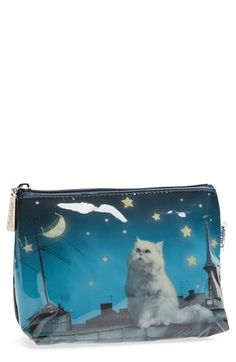 Catseye London 'Small Rooftop Cat' Cosmetics Bag available at 16th Birthday Gifts, Birthday Gifts For Teens, Makeup For Teens, Teen Makeup, Bags For Teens, Cat Bag, Thing 1, Gifts For Pet Lovers, Cool Cats