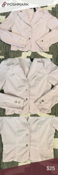 DKNY Pink Corduroy Jacket Super cute for fall! Light pink .. nice stretch to it. Corduroy material. Smoke free home DKNY Jackets & Coats