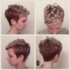 Excellent Hair Pixie Cuts And Curly Hair On Pinterest Hairstyle Inspiration Daily Dogsangcom
