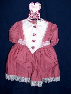 dress TODDLER SZ 2 T 2T  DRESS WITH MARTHAS HAIR BOW our store link http://stores.ebay.com/store4angels?refid=store come see our store front always have great sales