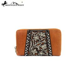 Montana West Floral Tooled Collection Wristlet Wallet – Handbag Addict.com