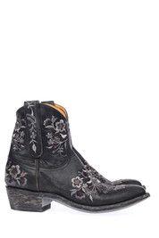 Zwarte Mexicana boots Sorazipper 7' enkelaarsjes