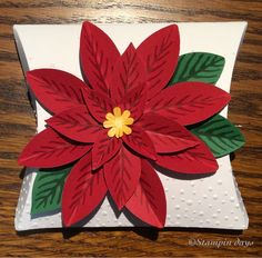 Stampin days; Christmas gift, Festive Flower Builder Punch, Reason for the season, Perfect pines, Square Pillow box, Stampin' UP!