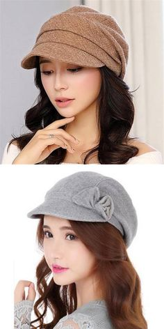 1ae4c9c6471 Casual wool newsboy cap for women bow wool winter hats