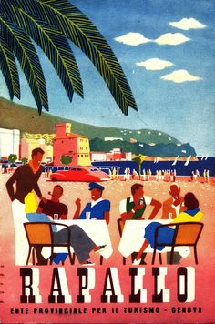 Volantino promozionale di Rapallo prodotto dall'Ente Provinciale per il Turismo di Genova (1941) #liguria